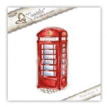 Štampiljka - Vintage Phone Booth - Magnolia