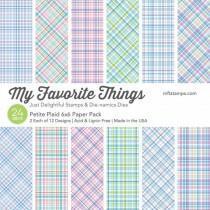 Blok Papirjev - Petite Plaid - 6x6 - My Favorite Things
