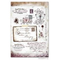 Set štampiljk - Stempelglede - Post Card From Paris