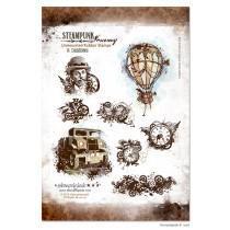 Set štampiljk - Stempelglede - Steampunk Journey