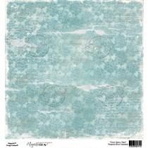 Papir - Turquoise Rose Ornament 12x12 - Magnolia