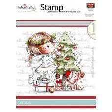 Štampiljka - Winnie - Decorating the Tree - Polkadoodles