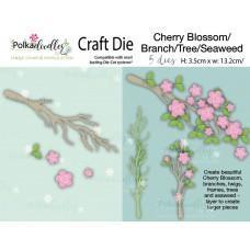 Kovinske šablone - Cherry Blossom / Branch / Tree / Seaweed - Polkadoodles