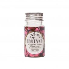 Nuvo Confetti - Victorian Rose Hexagons