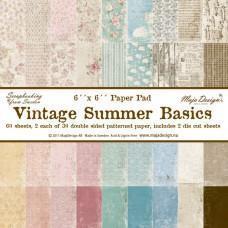 Blok Papirjev Maja Design - Vintage Summer Basics - 6x6