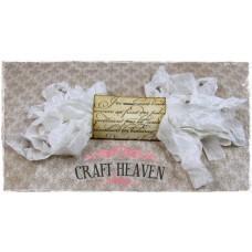 Dekorativni trak - Vintage Seam Binding – White