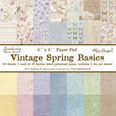 Blok Papirjev Maja Design - Vintage Spring Basics - 6x6