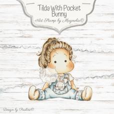 Štampiljka - Hippity Hoppity Tilda with Pocket Bunny - Magnolia