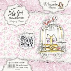 Štampiljka - Luggage Trolley & Journey {text} - Magnolia