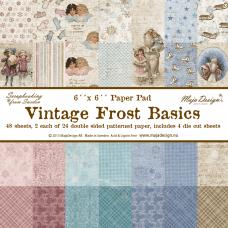 Blok Papirjev Maja Design - Vintage Frost Basics - 6x6
