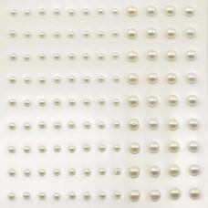 Samolepilne Polperle - Bele in Ecru