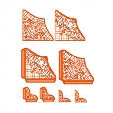 Kovinske šablone - Dimensions - Delicate Lattice Perfect Pockets - Tonic Studios
