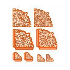 Kovinske šablone - Dimensions - Embellished Swirl Perfect Pockets - Tonic Studios
