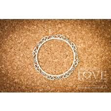 Round frame Paroles with hearts - Laserowe LOVE