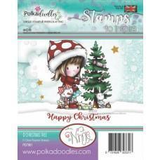 Štampiljka - Winnie Christmas Tree - Polkadoodles