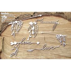 Boho Love - Big Arrows - Scrapiniec