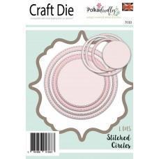 Kovinske šablone - Stitched & Pierced Nested Circles - Polkadoodles