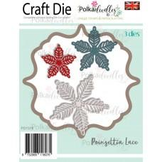 Kovinske šablone - Poinsettia Lace - Polkadoodles