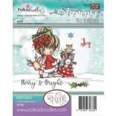 Štampiljka - Winnie Merry & Bright - Polkadoodles