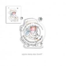Štampiljka - Snowman - Winnie Heavenly - Polkadoodles