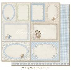 Papir - Journaling Cards Blue - Vintage Baby