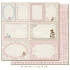 Papir - Journaling Cards Pink - Vintage Baby