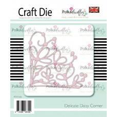 Kovinska šablona - Delicate Daisy Corner - Polkadoodles
