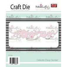 Kovinska šablona - Delicate Daisy Border - Polkadoodles