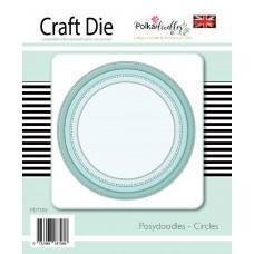 Kovinske šablone - Posydoodles Circles Nested - Polkadoodles