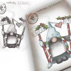 Štampiljka - Peace & Joy Gnomes - Polkadoodles