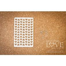 Hearts outline small set in a blister - Laserowe LOVE