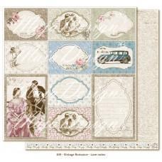 Papir - Love Notes - Vintage Romance