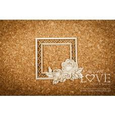 Rose garden frame Vintage double square - Memories - Laserowe LOVE