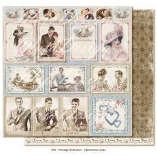 Papir - Ephemera cards - Vintage Romance