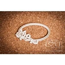 Pappilon oval frame with butterflies - Laserowe LOVE