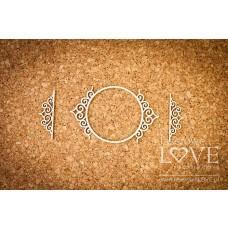 Round frame Paroles noble ornaments - Laserowe LOVE