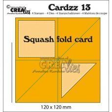 Kovinske šablone - Crea-Lies Cardzz Dies no.13 - Squash Fold Card