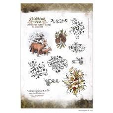 Set štampiljk - Stempelglede - Christmas Rose