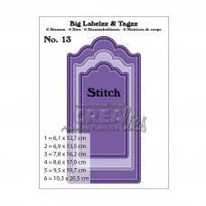 Kovinske šablone - Crea-Lies Big Labelzz & Tagzz Dies no.13 - With Stitchline