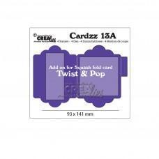 Kovinske šablone - Crea-Lies Cardzz Dies no.13A - Add on for Cardzz 13: Twist & Pop
