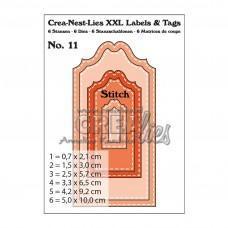 Kovinske šablone - Crea-Nest-Lies XXL Labels & Tags Dies no.11 With Stitchline