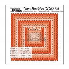 Kovinske šablone - Crea-Nest-Lies XXL Dies no.54 - Scalloped Squares