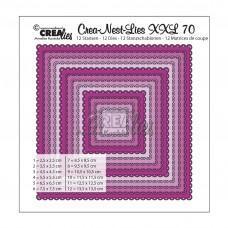 Kovinske šablone - Crea-Nest-Lies XXL Dies no.70 - Squares with Open Scallop