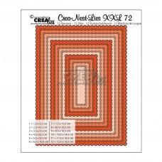 Kovinske šablone - Crea-Nest-Lies XXL Dies no.72 - Rectangles with Open Scallop