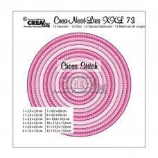 Kovinske šablone - Crea-Nest-Lies XXL Dies no.73 - Circles with Cross Stitches