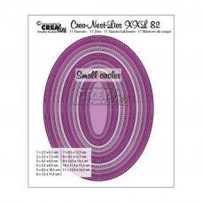 Kovinske šablone - Crea-Nest-Lies XXL Dies no.82 - Ovals with Small Circles