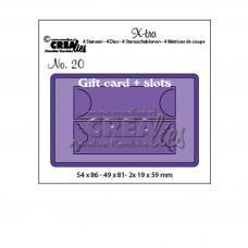 Kovinske šablone - Crea-Lies X-tra Dies no.20 Gift Card with Slots