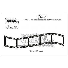 Kovinske šablone - Crea-Lies X-tra Dies no.35 - Curved Filmstrip Small