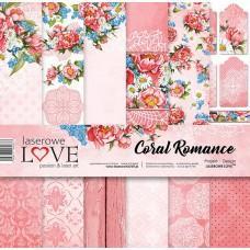 Set papirjev - Coral Romance - 30,5 x 30,5 cm - Laserowe LOVE