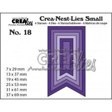Kovinske šablone - Crea-Nest-Lies Small Dies no.18 - Fishtail Banner Smooth